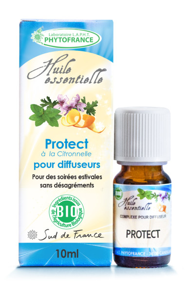 synergie d'huiles PROTECT ANTI-MOUSTIQUES synergie huiles essentielles BIO 10 ml pour diffuseursessentielles à diffuser protect
